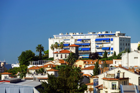 azur: New apartments and old villas in Nice, Cote d Azur, France Stock Photo