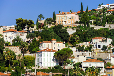d���azur: New apartments and old villas in Nice, Cote d Azur, France Stock Photo