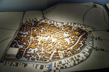 andlau: Miniature model of Dambach-la-Ville, Alsace, museum Andlau