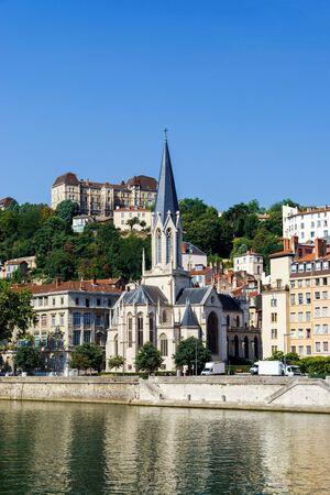 lyon: Lyon city landscape view, France, travel concept