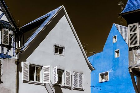 infra construction: Typical traditional alsacien city house, Selestat, France