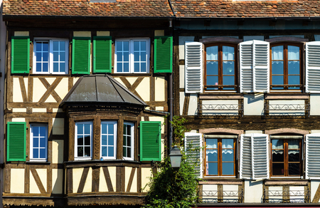 tranquillity: Classic timber-framing alsacien houses on the sun, Barr, France