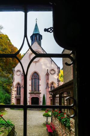 alsace: Old medieval abbey church in Alsace, France