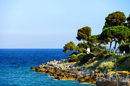 Mediterranean sea coast, summer day, France