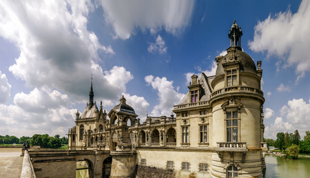 chantilly: Chantilly castle view, Il-de-France, Paris region, France