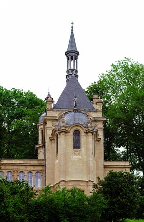 french countryside: Old medieval church in french countryside, Paris region