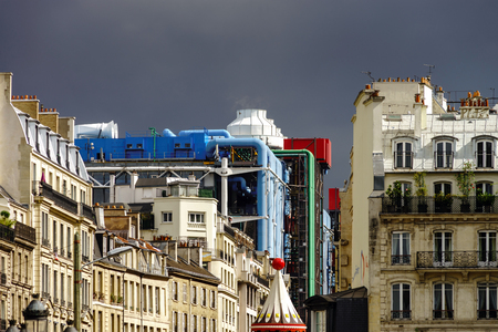penthouse: Typical Paris street view, summer day.  France