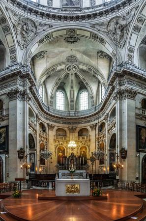 saint paul: Saint Paul church majestic interior, Paris, France Editorial
