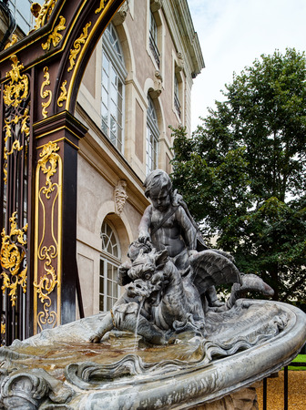central square: Gilden decorative sculpture on the central square of Nancy, France
