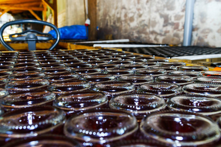 bottling: Champagne producing and bottling in Alsace, France. Small wine-producing business.