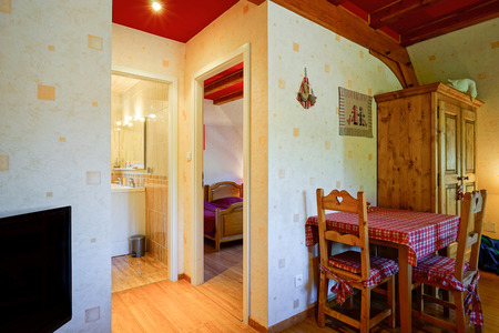 guesthouse: Countryside house comfortable interior in alsacien style, guesthouse in a little village Stock Photo