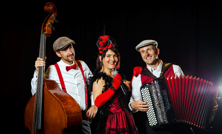 Editorial, 2nd September 2016: Illkirch, Strasbourg, France:  Concert of Christel Kern chanson music band, portraits of musiciens Editorial