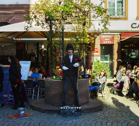 chaplin: Editorial,15th October 2016: Strasbourg, France. Autumn day in the touristic center of Strasbourg. Sunny weather