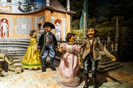 dictator: 23 august 2016. Austria, Salzburg. Museum of old marionettes, theater of dolls. Editorial