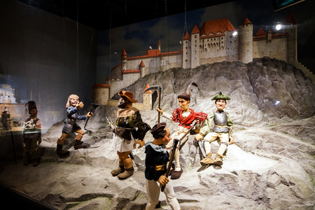 puppet master: 23 august 2016. Austria, Salzburg. Museum of old marionettes, theater of dolls. Editorial