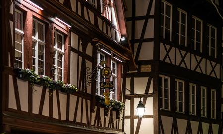Editorial: 19th November 2016: Strasbourg, France. Night street view Editorial
