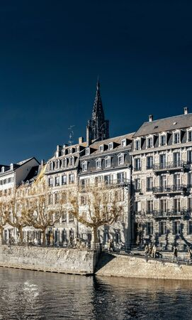 Strasbourg street infrared view, cityscape, France