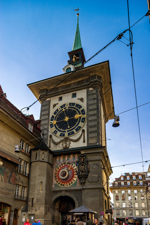 Editorial: 25th February 2017: Bern, Switzerland. Historic center of the city.