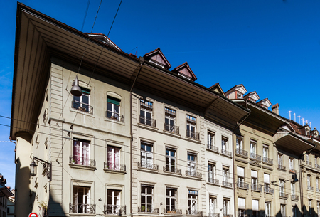 renovated: Editorial: 25th February 2017: Bern, Switzerland. Historic center of the city.