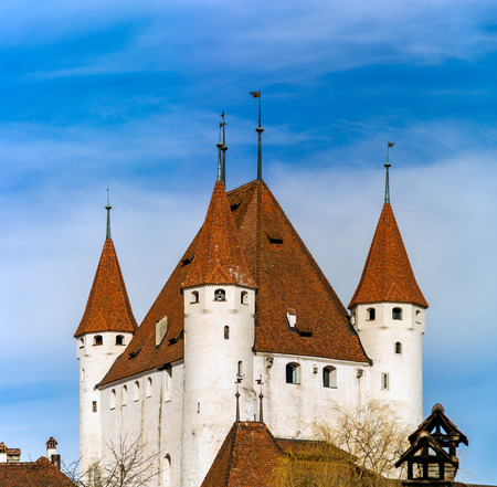Old castle Thun on Thunersee in Switzerland, HD quality