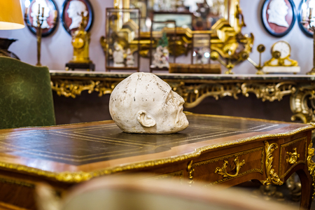 Decorative interior sculpture in antique shop, Bruxelles, Belgium Stock Photo