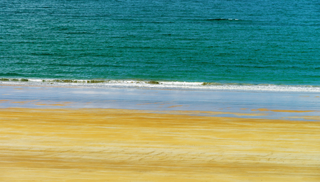 Three colors of nature, abstract seaside view in Brittany, France Standard-Bild