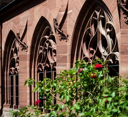 Basel Minster interior, majestic architecture, gothic style, Swiss Archivio Fotografico