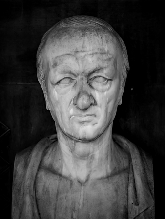 Ancient bust in the Church Saint Thomas, Strasbourg, France