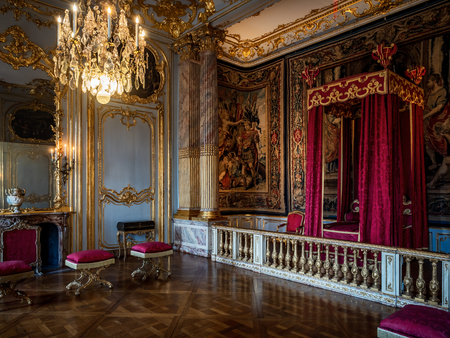 Beautiful luxury interior of Rohan palace in Strasbourg, royal museum , France