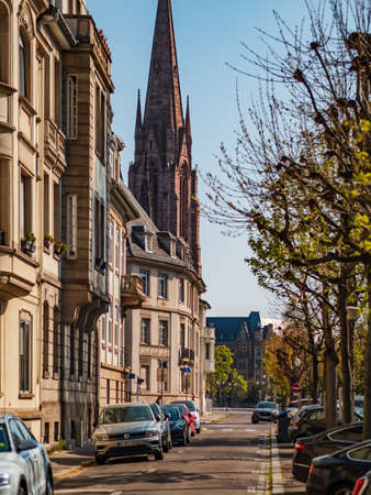 Editorial: 8th April 2020: Strasbourg, France. Empty streets of the city of Strasbourg during quarantine by coronavirus, isolation time. Editorial