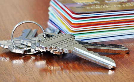 Keys and credit cards photo