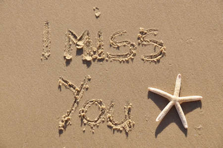 spring message: I miss you Stock Photo