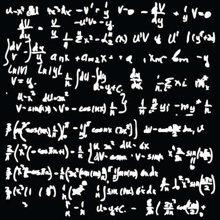 Blackboard with a math calculation. Seamless vector wallpaper. Vector