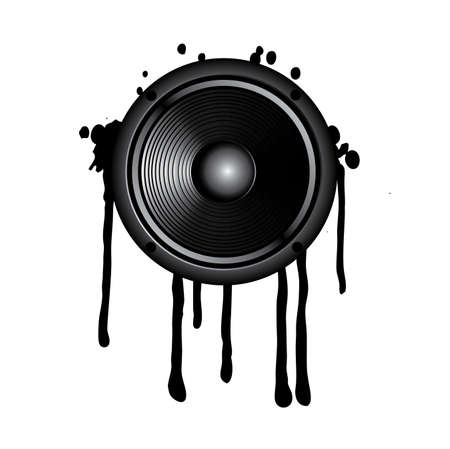 speaker and splash on a white background Vector
