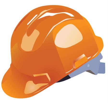 bauarbeiterhelm: orange Vektor hardhat Bauarbeiten auf einem wei�en Hintergrund