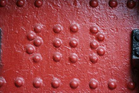rust red: placa de metal grunge con el �xido, color rojo
