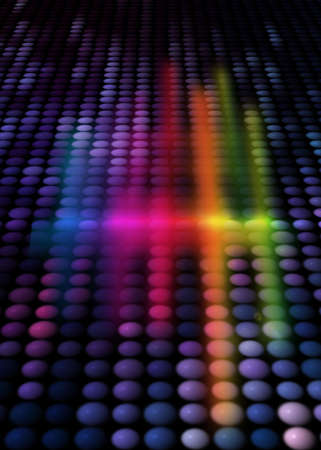 colorful party background with neon figures, rainbow background Stock Photo - 5031548