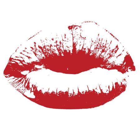 red kiss lips Vector illustration