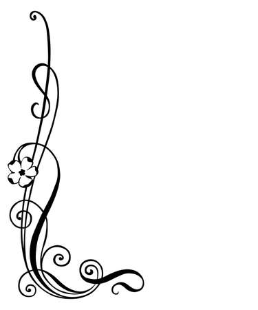 vector illustration of floral ornament , corner decoration