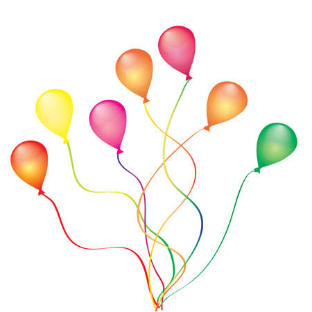 Beautiful color balloon in the air. Vector Stock Vector - 5183989