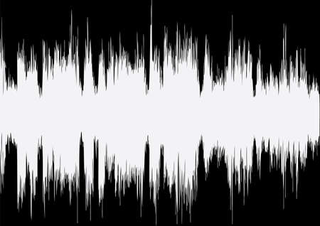 vibrations: vector music wave on black background