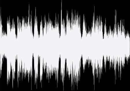 Vektor-Musik-Wave auf schwarzem Hintergrund