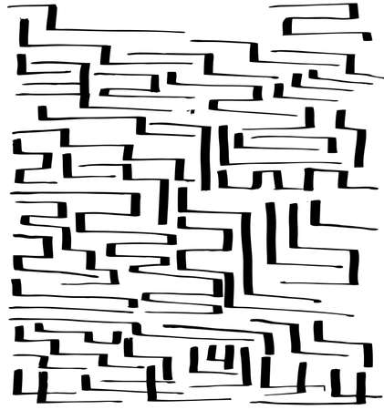 Labyrinth Vector seamless illustration handmade by ink Vector