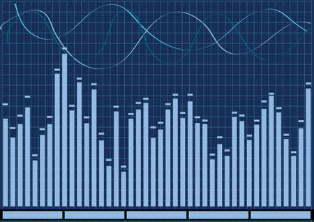 Audio Equalizer in blue color vector illustration Stock Vector - 5223614