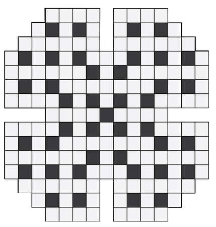 clues: An empty crossword puzzle vector illustration
