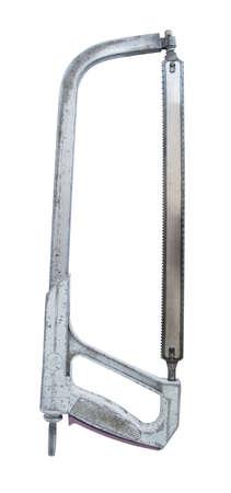 meta: meta silverl hacksaw  on white background isolated