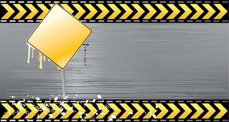 Under construction illustration vector layered banner danger Stock Vector - 5316929