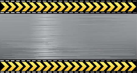 Under construction illustration vector layered banner danger