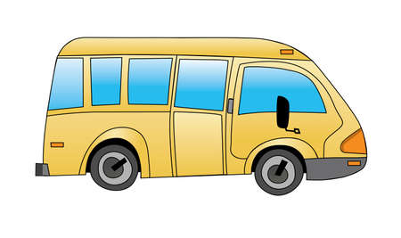 School bus on white background vector illustration Stock Vector - 5316884