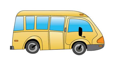 School bus on white background vector illustration Stock Vector - 5316884
